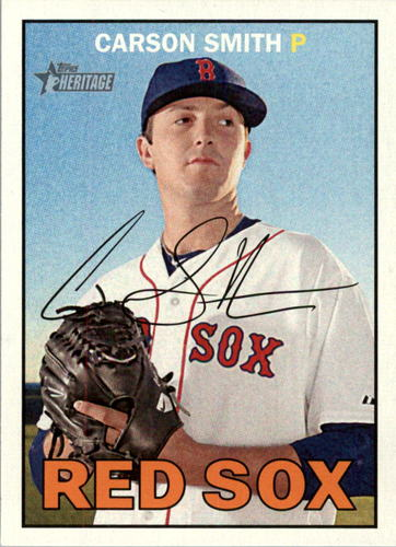 Photo of 2016 Topps Heritage #219 Carson Smith -- Red Sox post-season