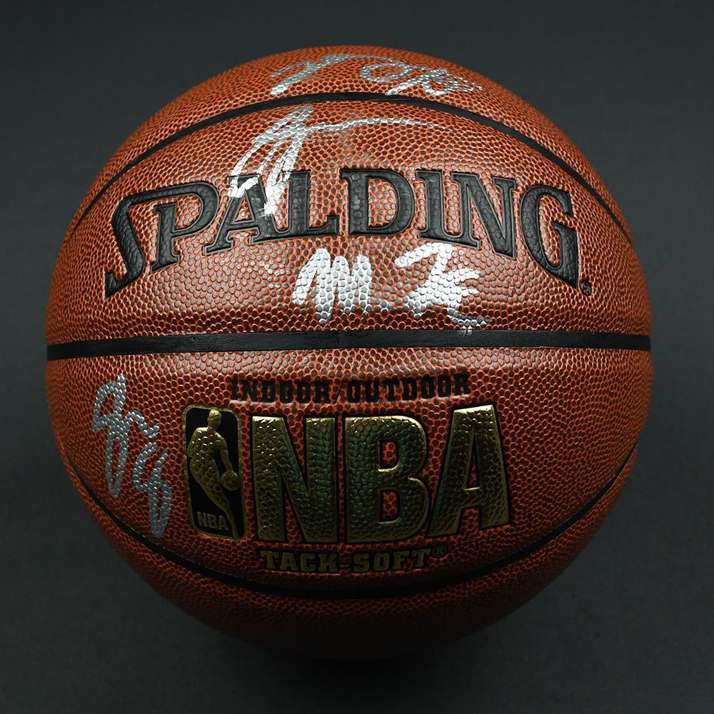 Markelle Fultz, Jayson Tatum, Josh Jackson and De'Aaron Fox - 2017 NBA Draft - Autographed Basketball