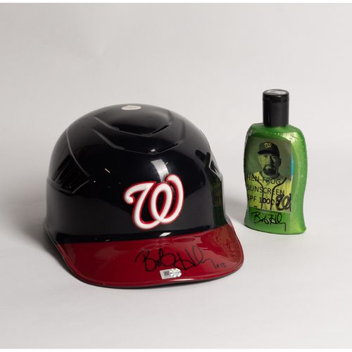 Photo of Autographed Bob Henley Helmet and Sunscreen - Winning Bidder Can Pick Up Items Directly From Bob on September 24, 2018
