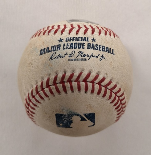Photo of Authenticated Player Collected Baseball - Home Run (1) by Jesus Sucre against Thomas Pannone (September 22, 2018; Top 7).