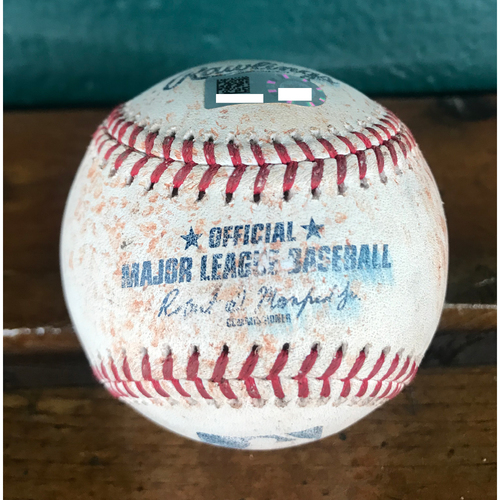 Photo of Cardinals Authentics: Game Used Baseball Pitched by Jordan Hicks to Josh Bell, Colin Moran, & Adeiny Hechavarria *Walk 100.3 MPH, Single 100.1 MPH, Double Play (Run Scores) 101 MPH*
