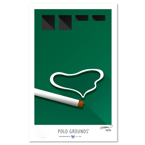 Photo of Polo Grounds - Collector's Edition Minimalist Art Print by S. Preston #119/350  - New York Giants
