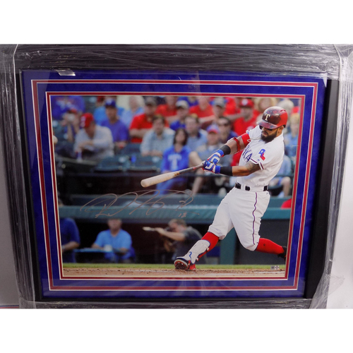 Photo of Autographed 16x20 - Rougned Odor Swinging