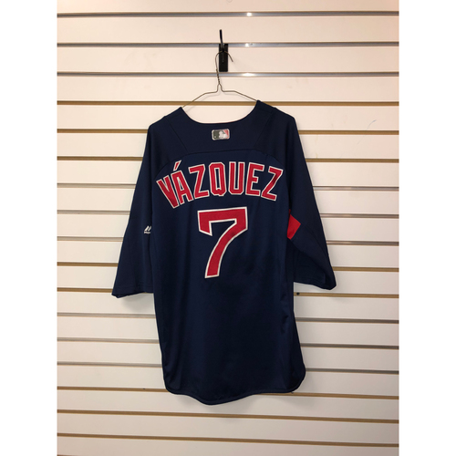 Photo of Christian Vazquez Team Issued Road Batting Practice Jersey