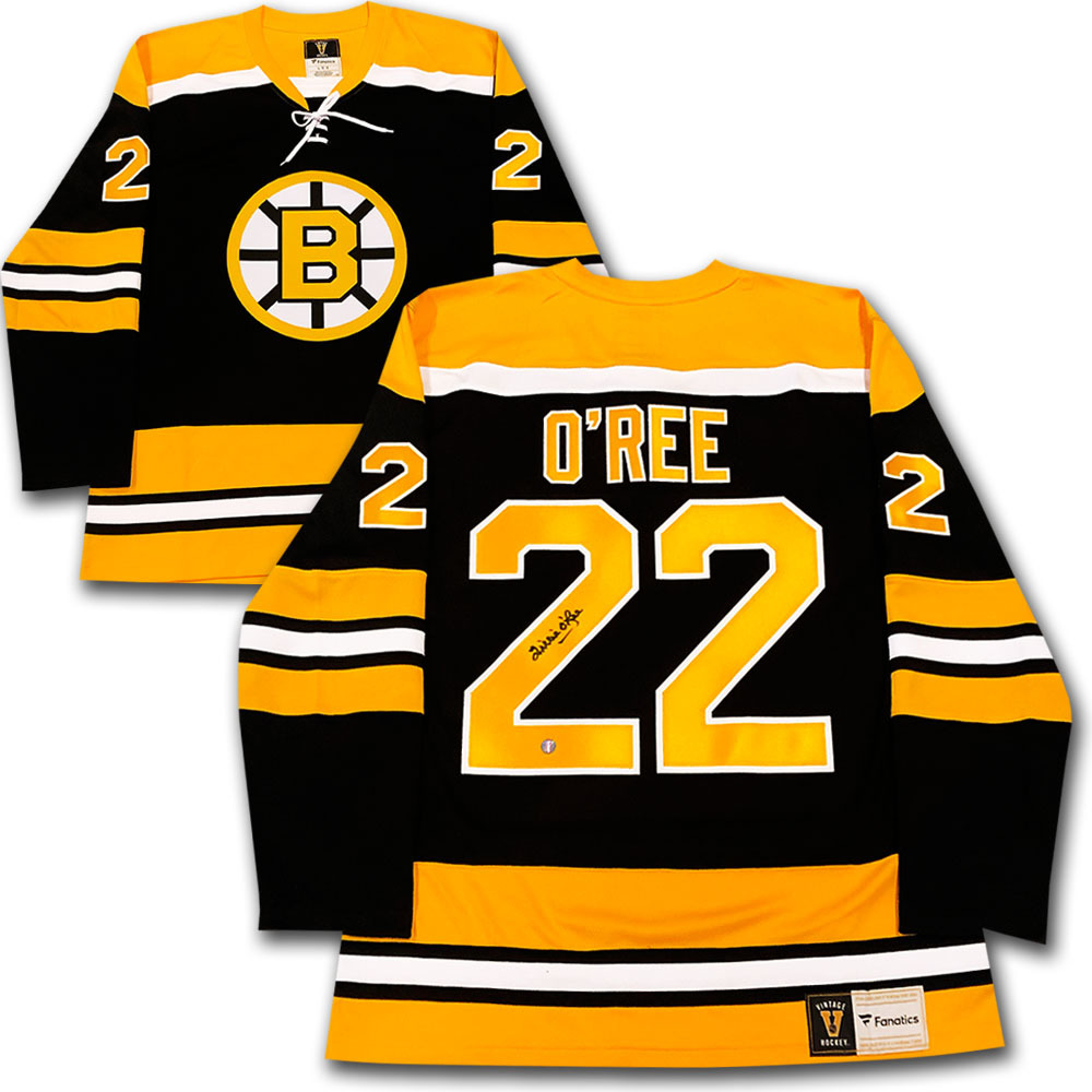 Willie O'Ree Autographed Boston Bruins Fanatics Heritage ...