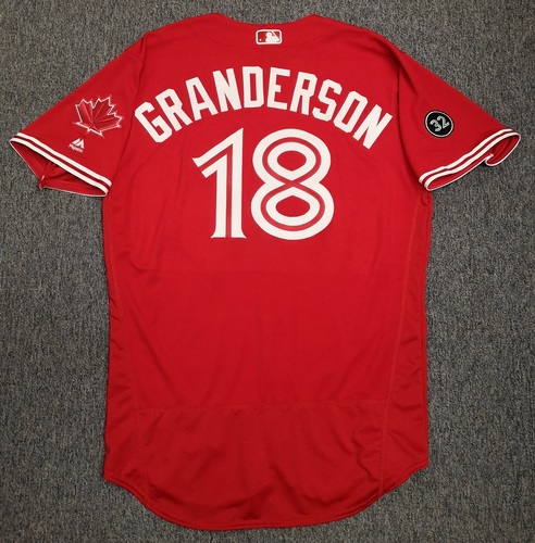 Photo of Authenticated Team Issued Canada Day 2019 Jersey - #18 Curtis Granderson (Size 46).