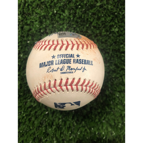 Photo of Nick Markakis Game Used Hit Single RBI Ball - Career RBI 999 - 6/10/19