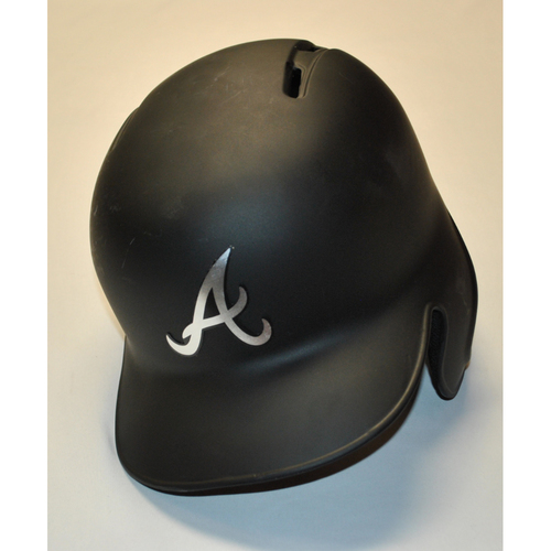 "Photo of Mike ""HIGH FOLTAGE"" Foltynewicz Braves Game-Used 2019 Players' Weekend Helmet"