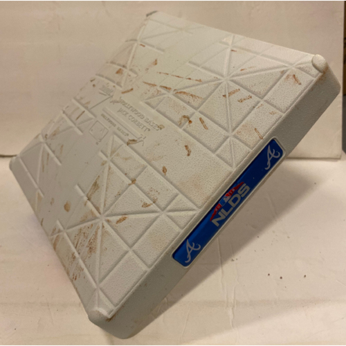 Photo of 2018 NLDS Game Used Base - Third Base Used During 2nd Inning - 10/8/18 - Dodgers Clinch