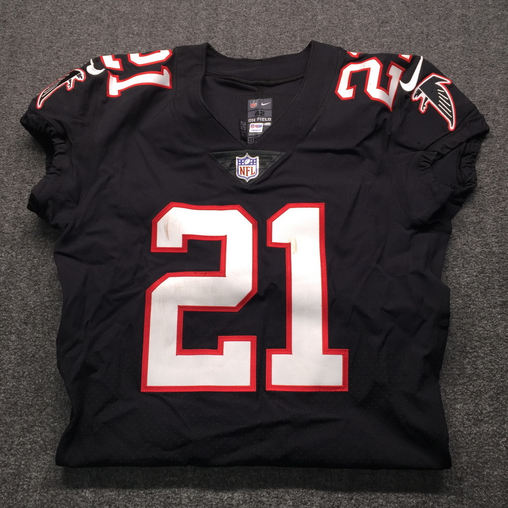 NFL Auction | STS - Falcons Desmond Trufant Game Used Jersey Size ...