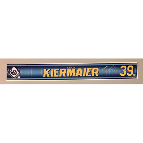 Photo of Team Issued Autographed Spring Training Locker Tag: Kevin Kiermaier