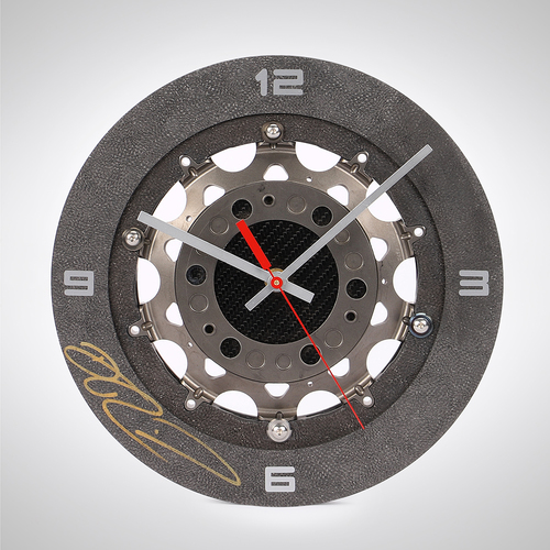 Photo of Daniel Ricciardo Signed 2019 Renault F1 Team Brake Disc Clock
