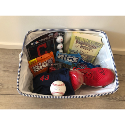 Photo of Aaron Civale Favorite Things Basket