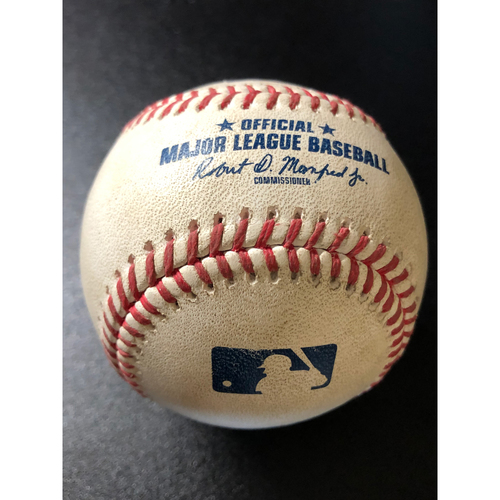 Photo of Game-Used Baseball - 2020 NLCS - Atlanta Braves vs. Los Angeles Dodgers - Game 7 - Pitcher: Blake Treinen, Batter: Freddie Freeman (Fly Out to RF, Betts robs HR) - Top 5