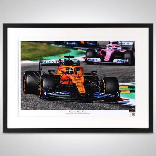 Photo of Carlos Sainz Jr 2020 Framed Signed Photo - Italian GP