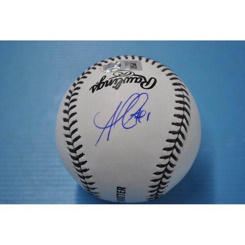 Photo of 2020 MLB Black Lives Matter Commemorative Ball - Autographed by Ozzie Albies