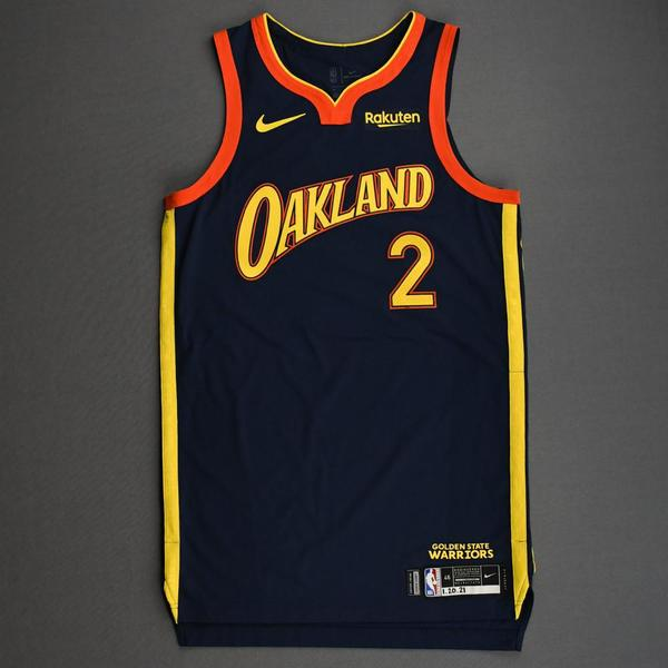 Image of Nico Mannion - Golden State Warriors - Game-Issued City Edition Jersey - 2020-21 NBA Season