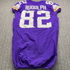 STS - Viking Kyle Rudolph Game Used Jersey (11/8/20) Size 42 with Captains Patch