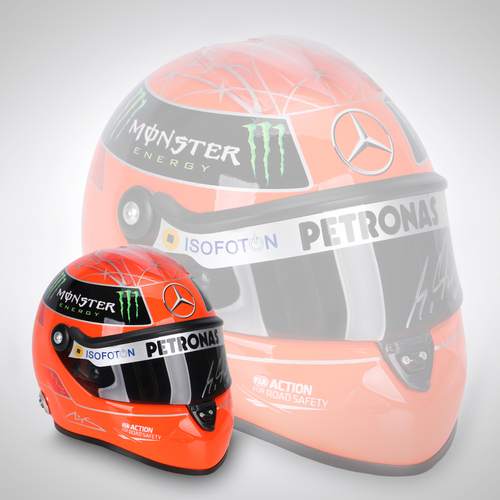 Photo of Michael Schumacher 2012 Signed 1:2 Scale Helmet