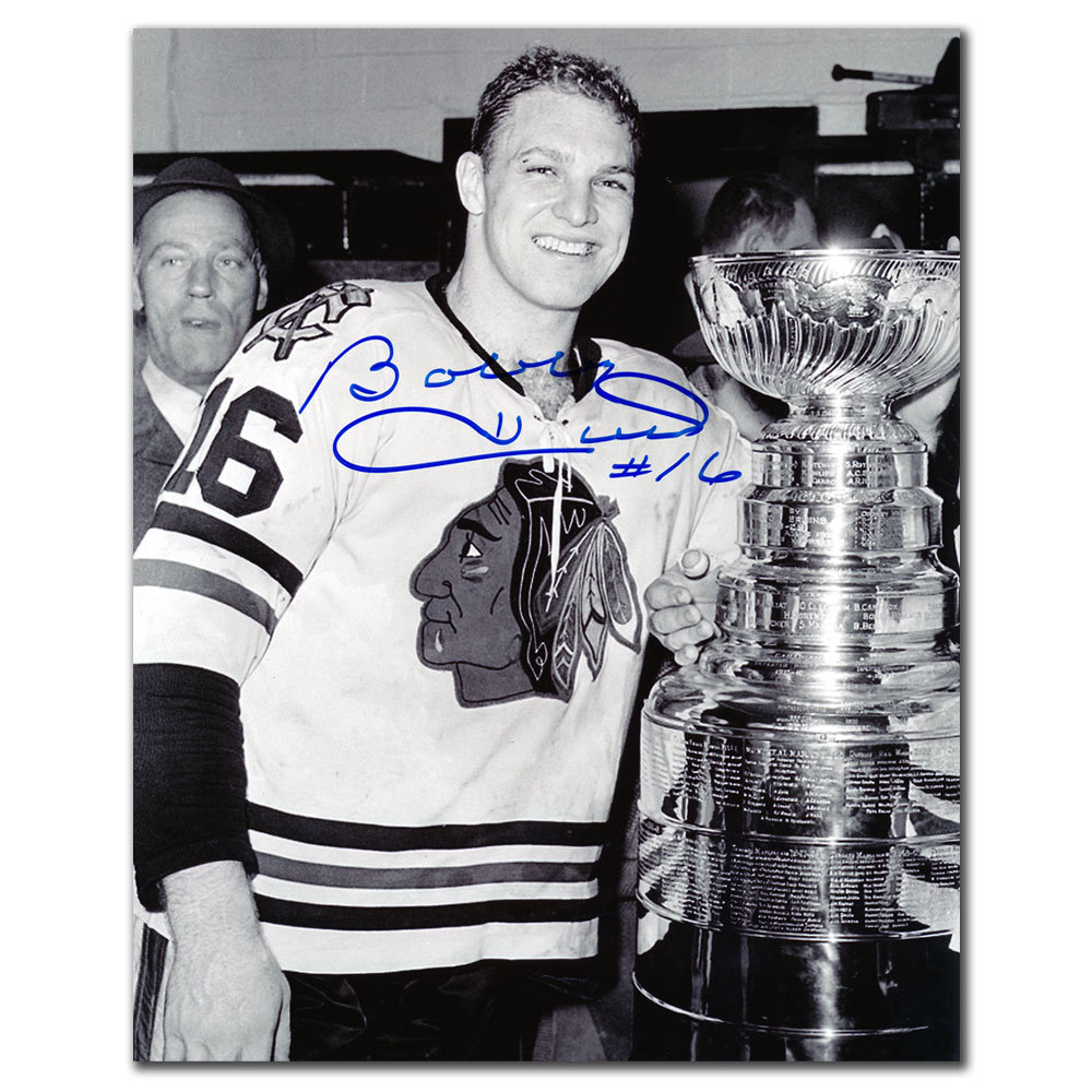 Bobby Hull Chicago Blackhawks STANLEY CUP Autographed 8x10
