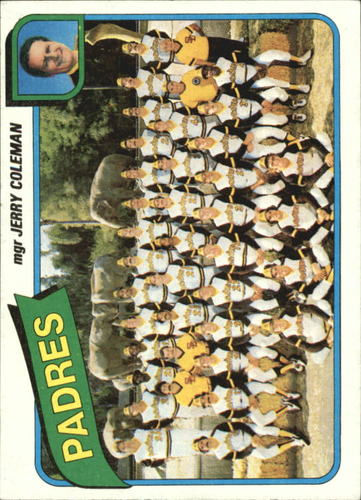 Photo of 1980 Topps #356 San Diego Padres CL/Jerry Coleman MG