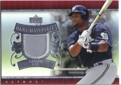 Photo of 2007 Upper Deck UD Game Materials #CL Carlos Lee Jsy S1