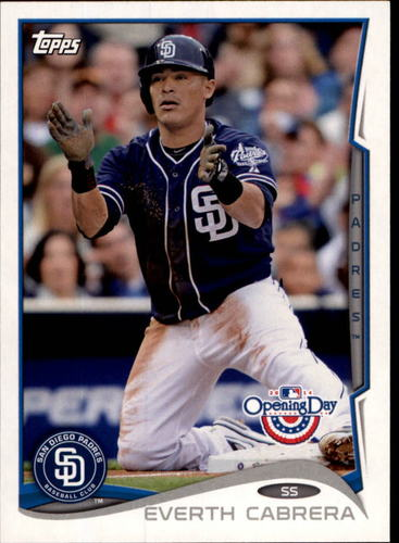Photo of 2014 Topps Opening Day #218 Everth Cabrera