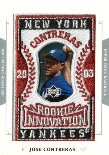 Photo of 2003 UD Patch Collection #152 Jose Contreras RI RC