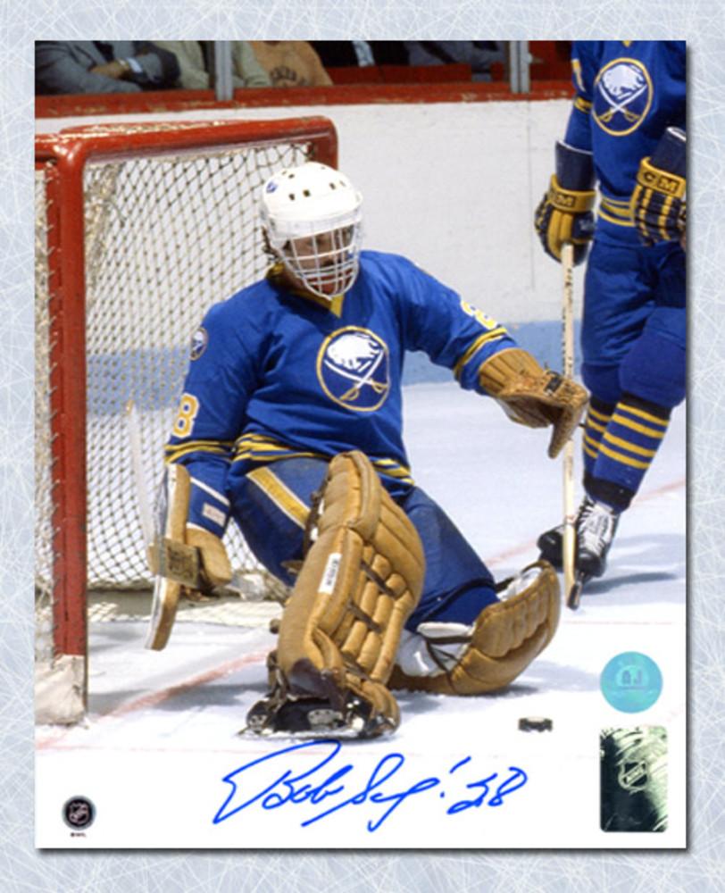Bob Sauve Buffalo Sabres Autographed Vezina Goalie 8x10 Photo