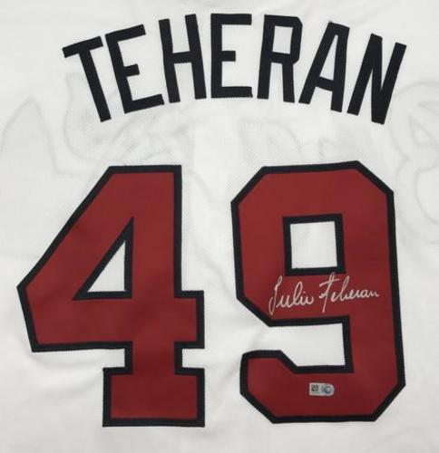 Photo of Julio Teheran Autographed White Braves Jersey