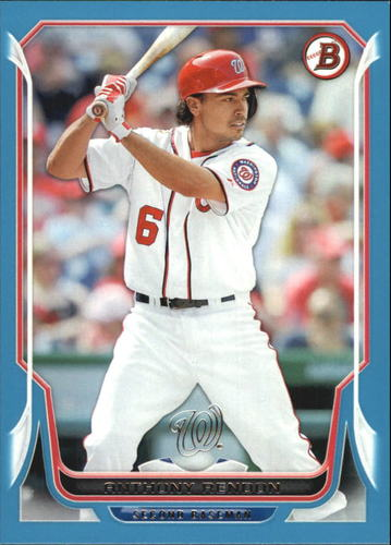 Photo of 2014 Bowman Blue #96 Anthony Rendon 36/500 -- Nationals post-season