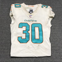 CRUCIAL CATCH - DOLPHINS CORDREA TANKERSLEY GAME WORN DOLPHINS JERSEY (OCTOBER 8, 2017) SIZE 38
