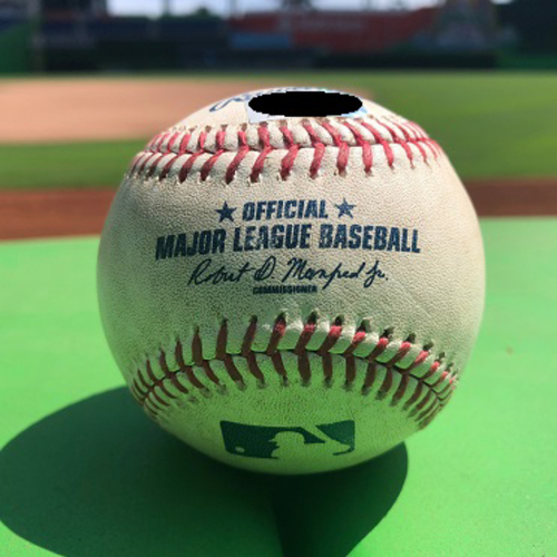 Photo of Game-Used Ball: J.T Riddle vs Dallas Keuchel - Foul Ball