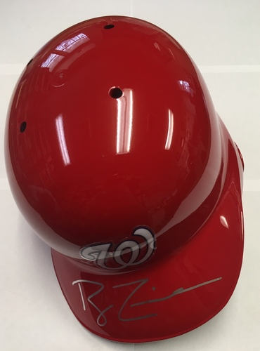 Photo of Ryan Zimmerman Autographed Nationals Batting Helmet