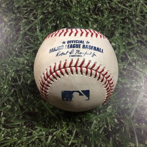 Photo of Player-Collected Baseball STL@MIL  05/28/18 - Jonathan Villar Homerun Baseball