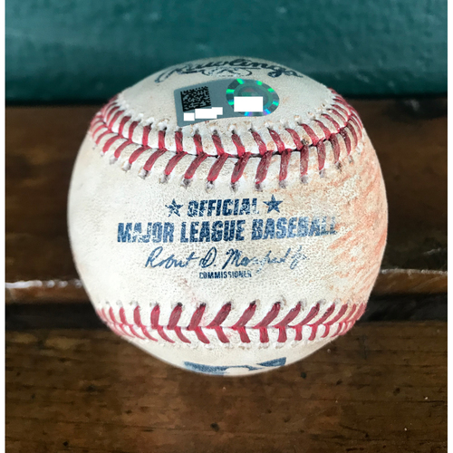Photo of Cardinals Authentics: Game Used Baseball Pitched by Tommy Milone to Harrison Bader, Kolten Wong, Miles Mikolas, & Matt Carpenter *Double, Single, Sacrifice Fly 1 RBI, Ball*