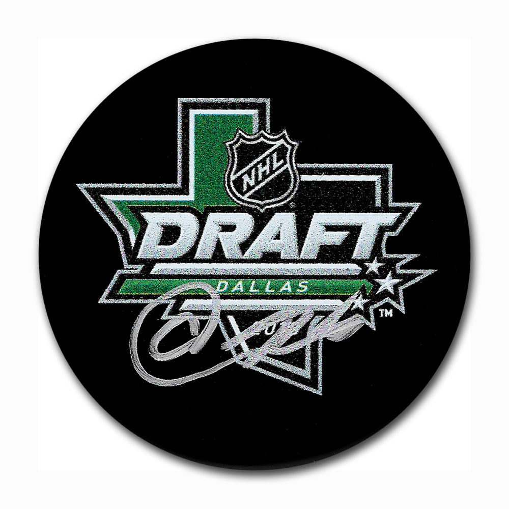 Akil Thomas Autographed 2018 NHL Entry Draft Puck