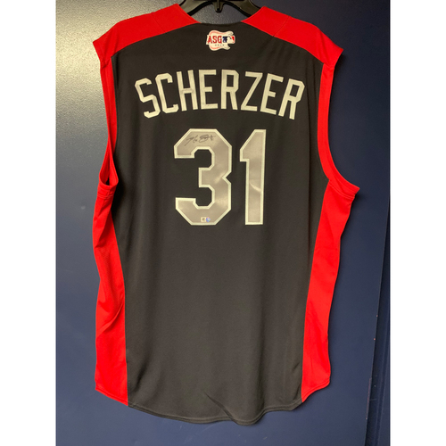 Photo of Max Scherzer 2019 Major League Baseball Workout Day Autographed Jersey