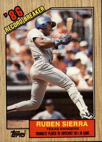 Photo of 1987 Topps #6 Ruben Sierra RB