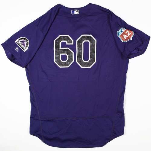 Photo of 2016 Spring Training - Spring Training Game Used Jersey - Justin Miller (Rockies)- Size- 50