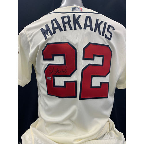 Photo of Nick Markakis Autographed Jersey