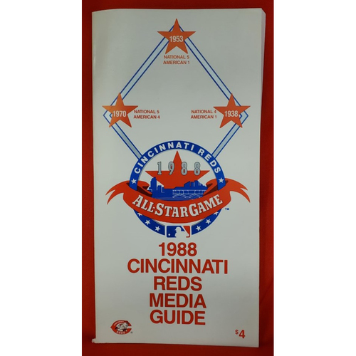 Photo of 1988 Cincinnati Reds All-Star Game Media Guide