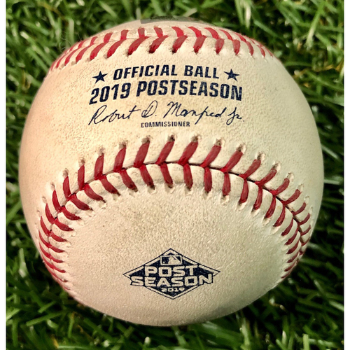 Photo of Game Used ALDS Postseason Baseball: Alex Bregman single off Emilio Pagan - October 8, 2019 v HOU