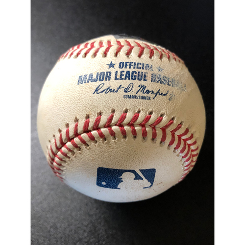 Photo of Game-Used Baseball - 2020 NLCS - Atlanta Braves vs. Los Angeles Dodgers - Game 7 - Pitcher: Ian Anderson, Batter: Will Smith (2-RBI Single) - Bot 3