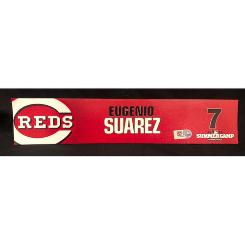 Eugenio Suarez -- 2020 Sumer Camp Locker Tag -- Team-Issued