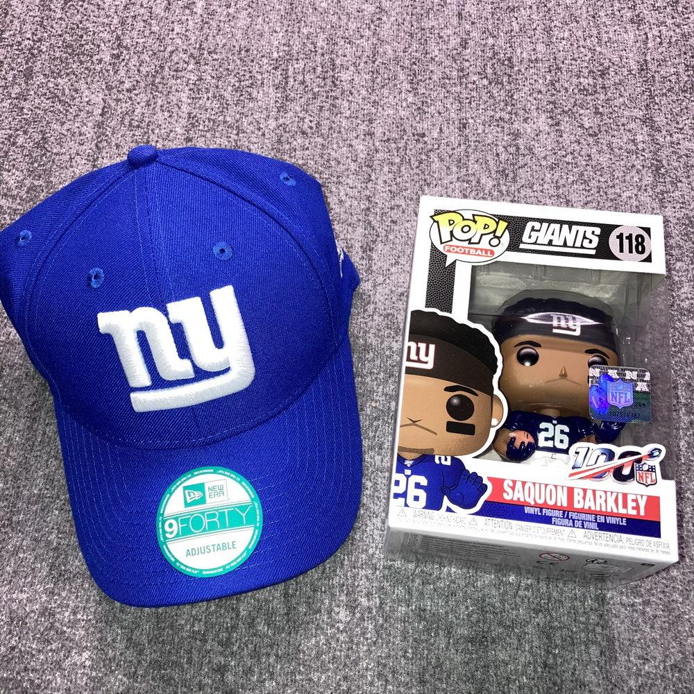 NFL - Giants Bundle  Saquon Barkley Funko Pop + Giants New Era Hat