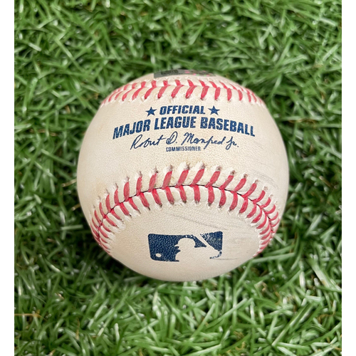 Photo of Game Used Baseball: Austin Meadows 2RBI single off Tanner Scott - WALK OFF WINNING HIT - Mejia & Kiermaier score - Bottom 9 - July 21, 2021 v BAL