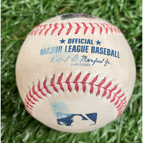 Photo of Game Used ALWCS Game #1 Baseball: Alejandro Kirk foul ball off Nick Anderson - Alejandro Kirk First Career Postseason Game - Top 8 - September 29, 2020 v TOR