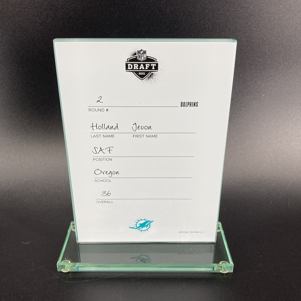 NFL - Dolphins Javon Holland 2021 NFL Draft Card Special Edition 2 of 2