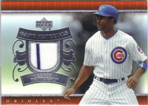 Photo of 2007 Upper Deck UD Game Materials #CP Corey Patterson Jsy S1